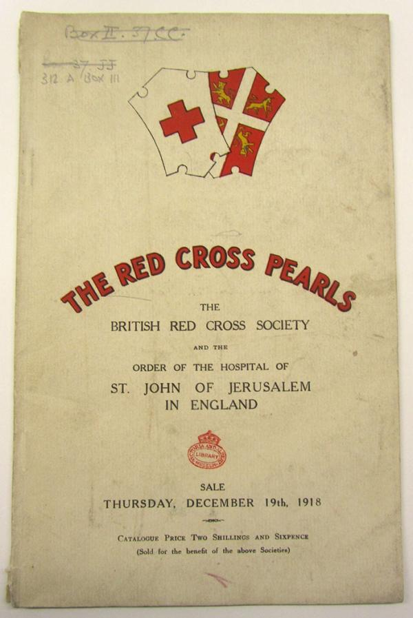 British Red Cross Society, Red Cross pearl necklace [catalogue of committee, collectors and donors], catalogue, London, 1918