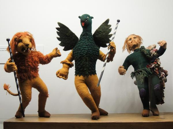 Traditional celebrational festive figures in the State Ethnographic Museum, Warsaw