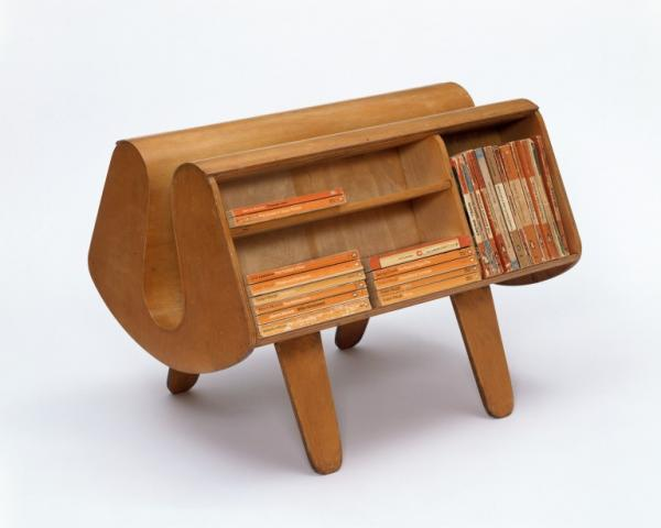 Penguin Donkey bookcase designed by Egon Riss for Isokon Furniture Company, 1939.