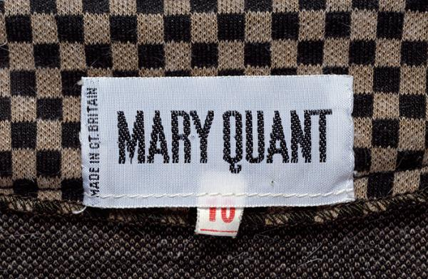 Mary Quant label. © Victoria and Albert Museum, London.