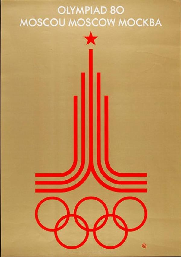 Poster showing logo for Moscow 1980 Olympic Games