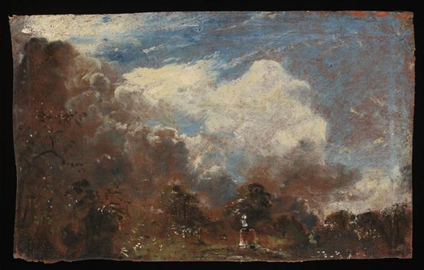 Reverse of Branch Hill Pond, Hampstead, oil on canvas by John Constable, about.1821-22. © Victoria and Albert Musuem, London