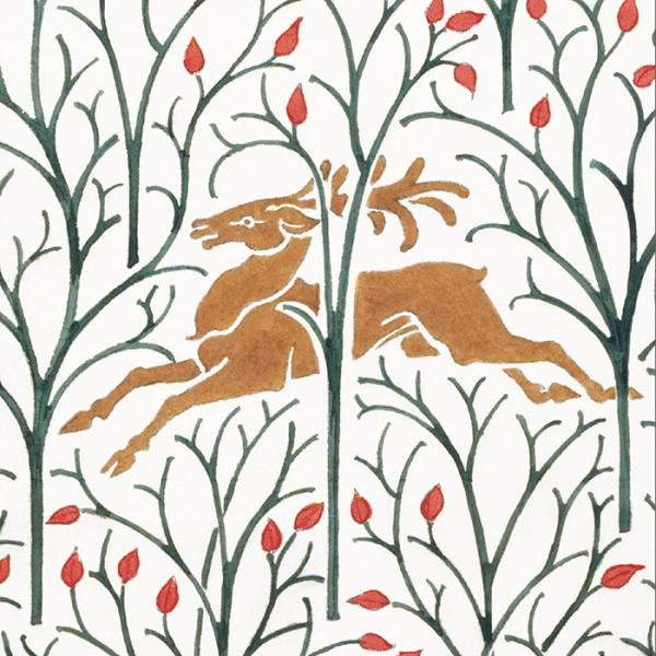 V&A Christmas Cards - Forest Deer - Created exclusively for the V&A