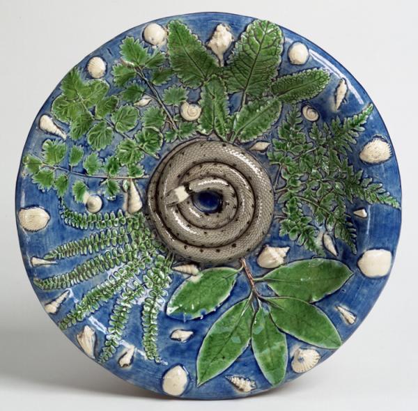 Dish, Bernard Palissy, 1570 - 1590. Museum no. C.2313-1910