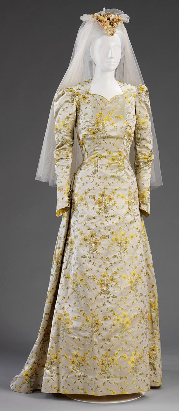 Elizabeth King's wedding dress by Ella Dolling, 1941. © Victoria and Albert Museum, London
