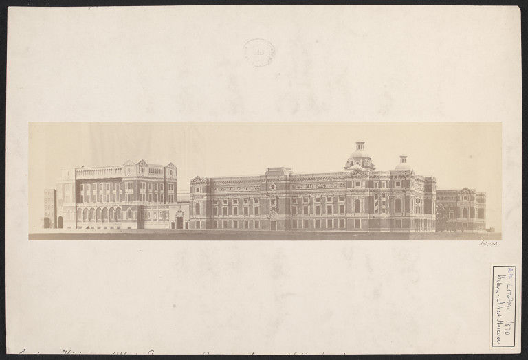 Early photograph of a model of the V&A
