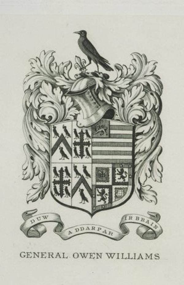 Bookplate of General Owen Williams, Charles William Sherborn, 1894. Museum number E.2157-1912. © Victoria and Albert Museum, London