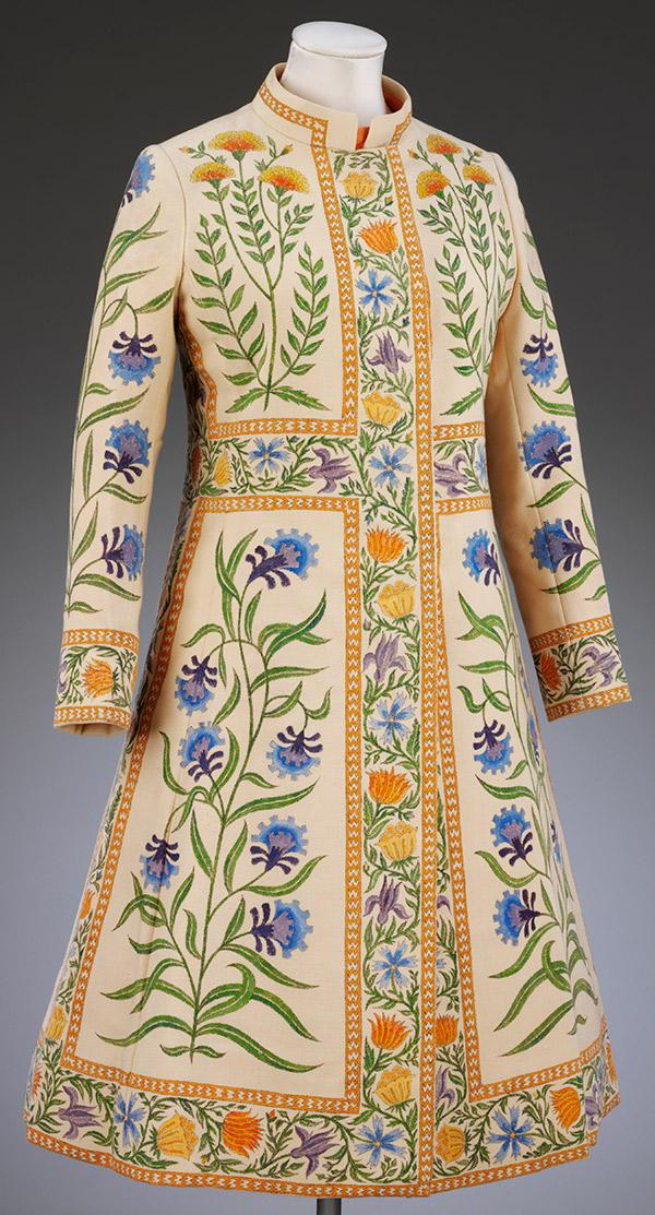 Rajputana coat by Richard Crawley for Bellville Sassoon, 1970 Winter Couture Collection. © Victoria and Albert Museum, London