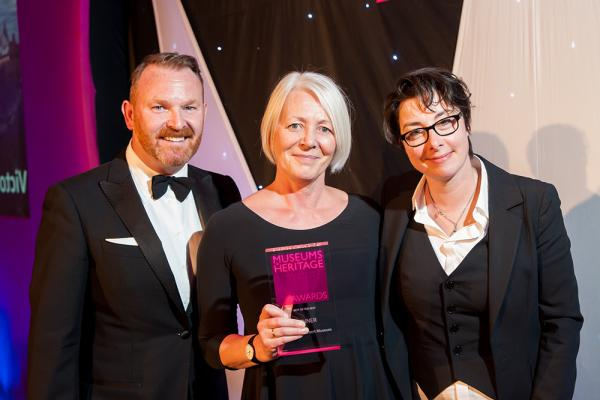 Left to right: Bernard Donoghue (Director and CEO, Association of Leading Visitor Attractions ), Moira Gemmill (Director of Design and FuturePlan at the V&A) and Sue Perkins