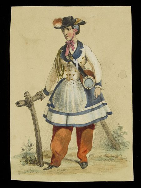 Print of a woman in uniform