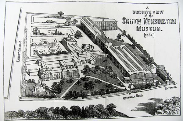 Bird's-eye view of the South Kensington Museum