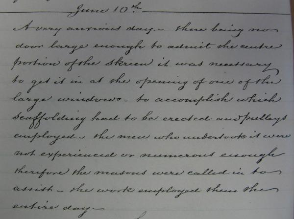 Extract from Diary for 10 June 1865