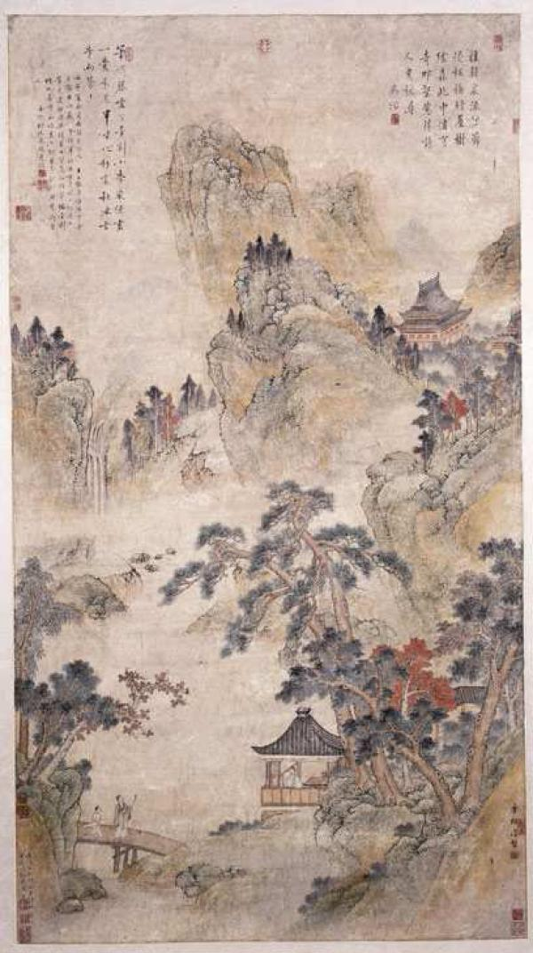 Visiting a Friend in the Mountains, China, 1550-1600. Museum no. E.422-1953. © Victoria and Albert Museum, London.