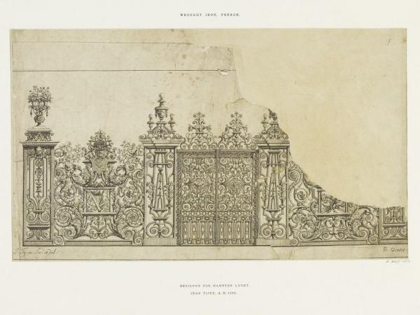 Illustration of the Fountain Screen at Hampton court