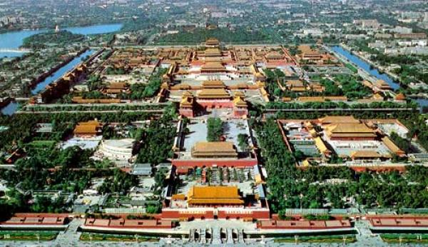 Birds eye view of the Palace Museum