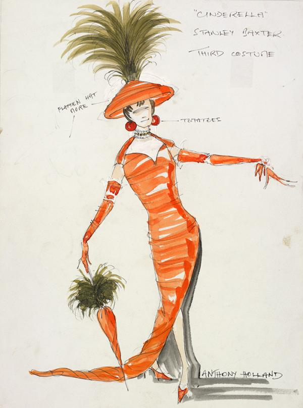 Costume design by Anthony Holland for Stanley Baxter as an Ugly Sister in Cinderella, King's Theatre, Edinburgh, 1979. Museum no. S.550-2000, © Victoria and Albert Museum, London