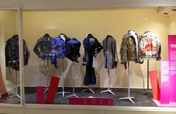 An early 'mock up' of the BLITZ case in the Fashion Gallery