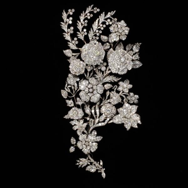 Diamond spray ornament, ca. 1850