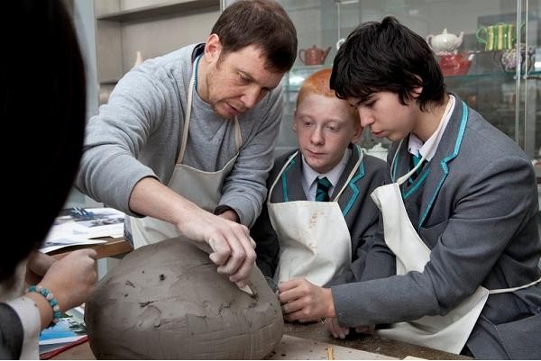 Keith and Students working