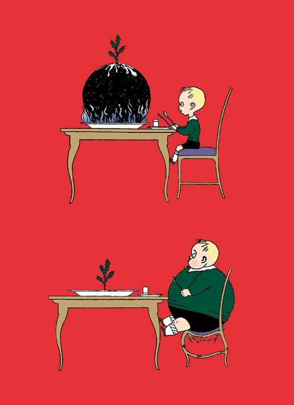 V&A Christmas Cards - Pudding Boy  - Created exclusively for the V&A