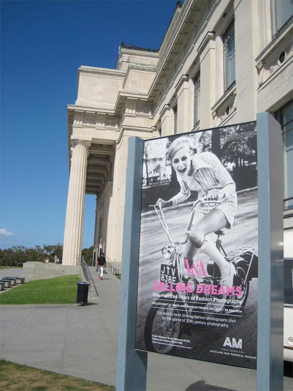 Selling Dreams on display at Auckland Museum. © Victoria and Albert Museum, London.