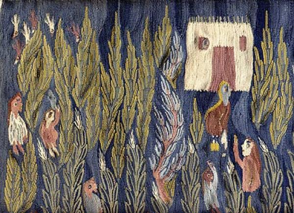 Egyptian tapestry, Cornfield (detail)