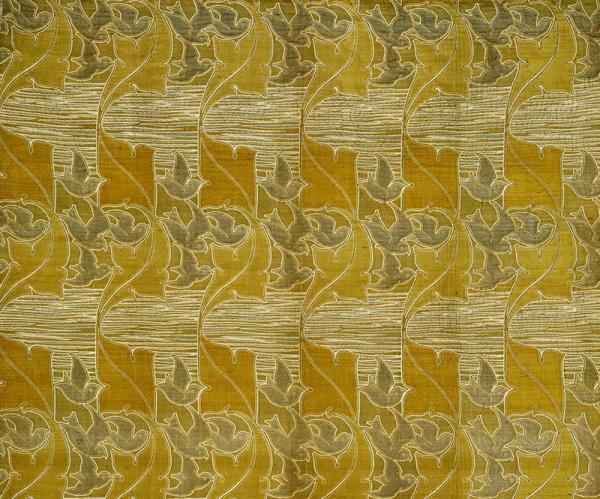 'Bird and Leaf' by Charles Voysey for Alexander Morton & Co., ca. 1897. © Victoria and Albert Museum, London