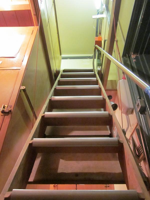 The treacherous stairs, a danger to generations of staff