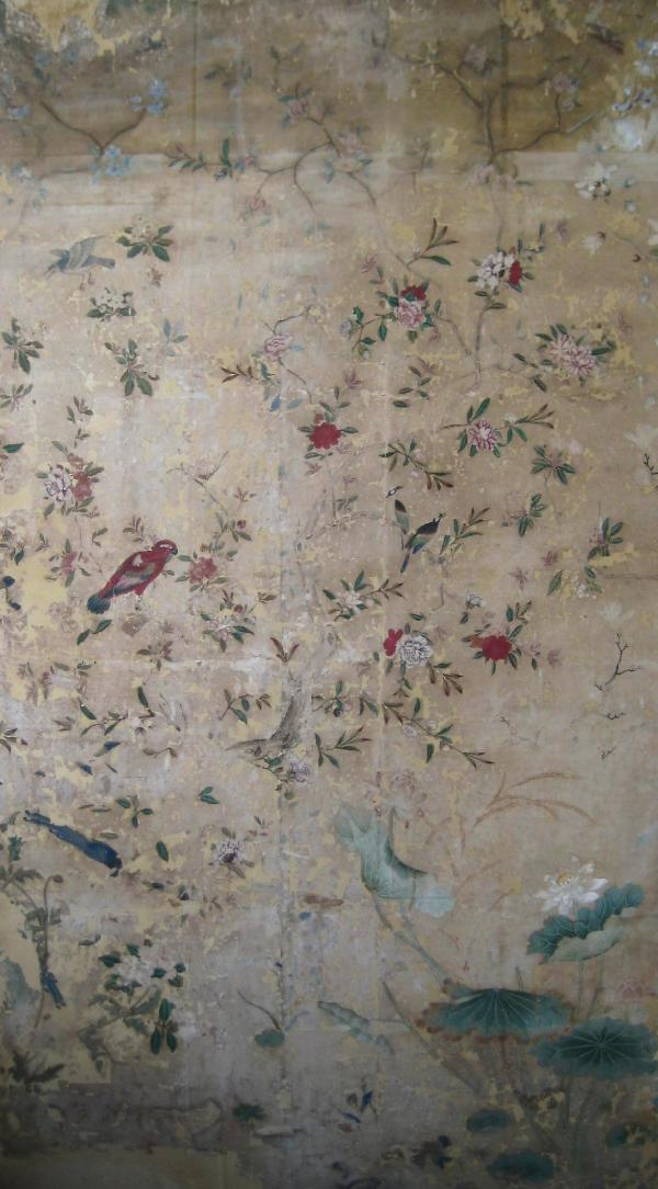 Conservation And Mounting Of A Chinese Export Wallpaper