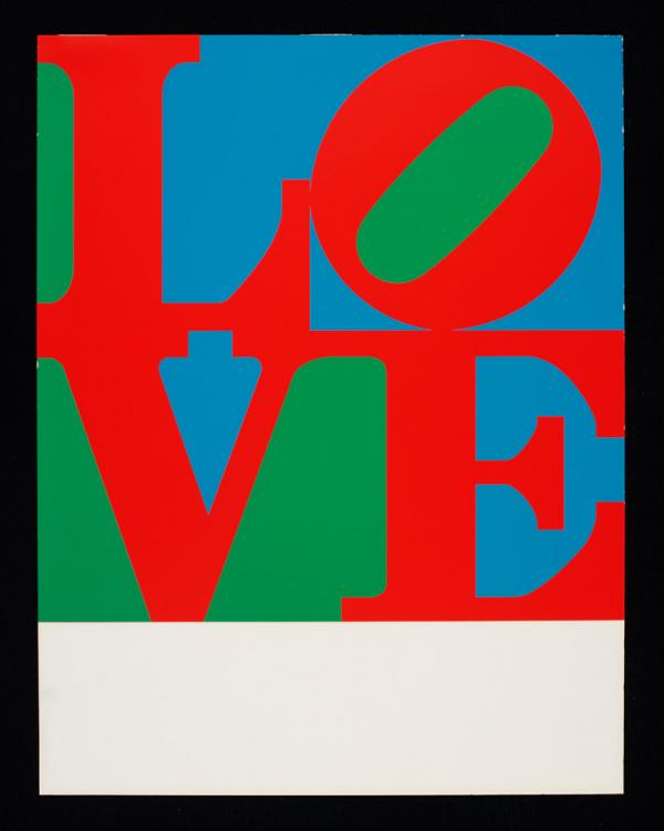 Love, print, Robert Indiana, 1967. Museum no. circ.576-1968