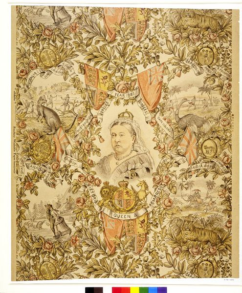 Wallpaper depicting Queen Victoria
