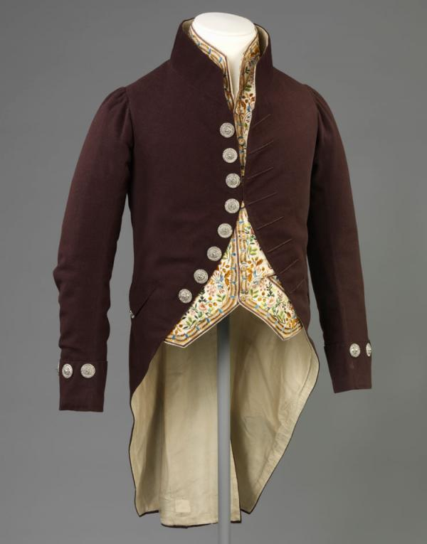 Court suit, unknown maker, 1810-1820. Museum no. T.106&A to S-1953