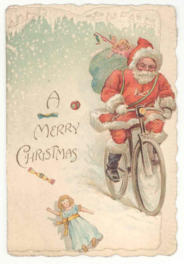 Christmas card, 1890 - 1900. Museum no. B.414-1993. © Victoria and Albert Museum, London.