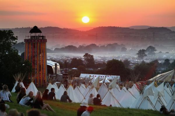 View over site, © Glastonbury Festival