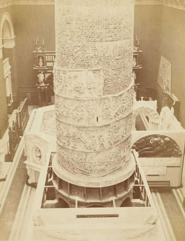 Erecting the cast of Trajan's column, c.1873