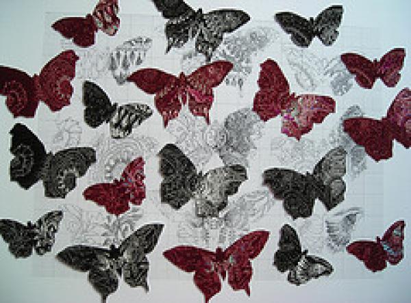 Textile butterflies  Helen Scalway 2009