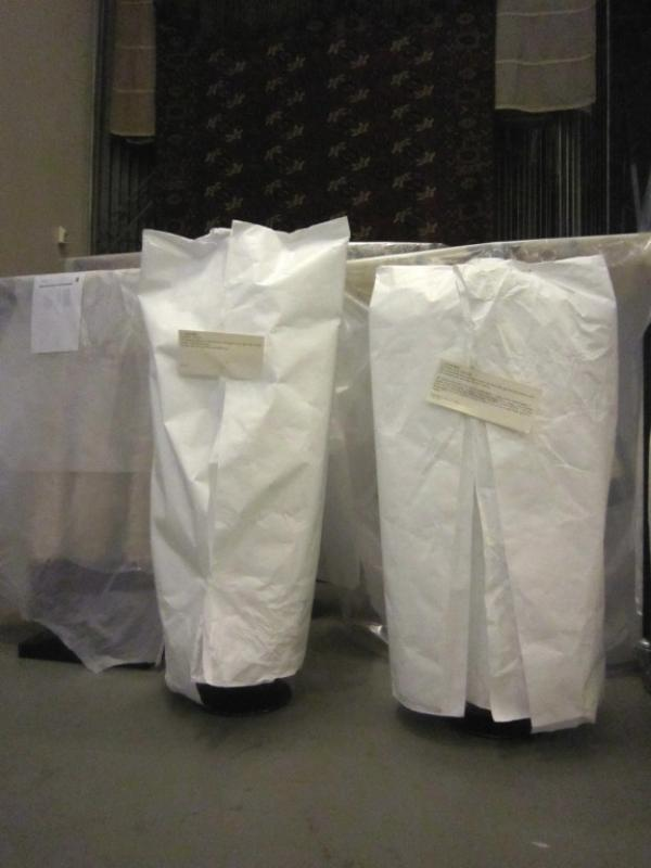 Chasubles covered with Tyvek