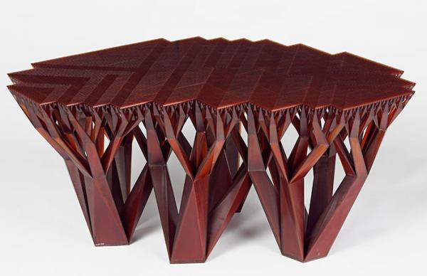 Fractal Table II, Platform: Gernot Oberfell, Jan Wertel and and Matthias Bär; after 2011 as: WertelOberfell , designer. Museum no. W.29-2011