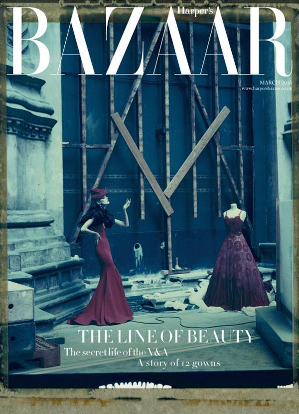 March 2013 issue of Harper's Bazaar exclusive to the V&A