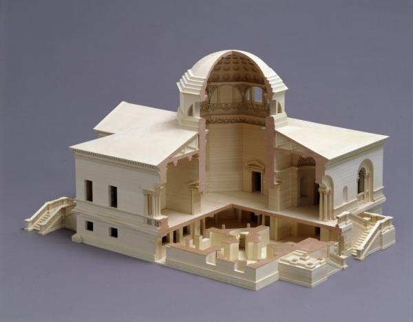 An architectural model of Chiswick House, Lord Burlington's Palladian villa
