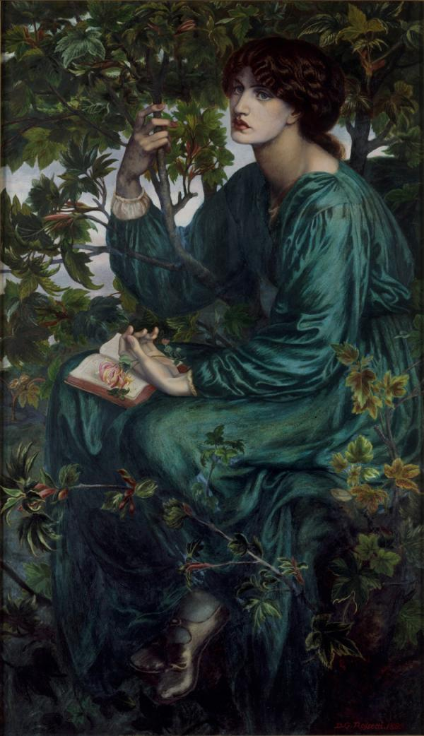 The Day Dream, oil painting, Dante Gabriel Rossetti, 1880. Museum no. CAI.3