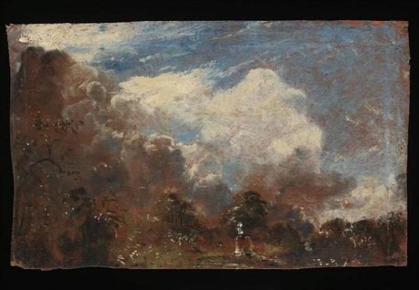 John Constable, Sketch on verso of Branch Hill Pond, Hampstead, oil on canvas. © Victoria and Albert Museum, London