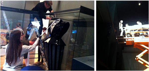 The installation of David Bowie at the Martin-Gropius-Bau, Berlin. © Victoria and Albert Museum, London