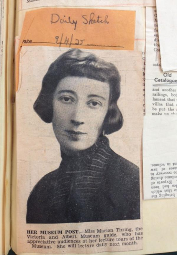 Marion Thring, photograph published in the Daily Sketch (9 April 1935)