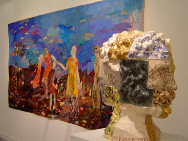 Janus head and painting