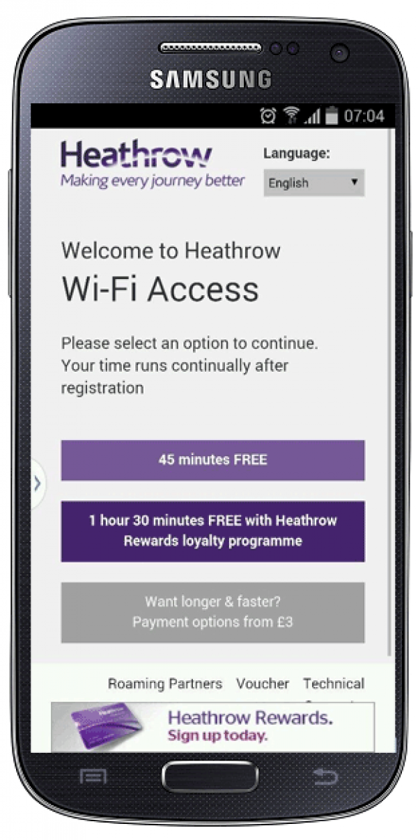 Mobile Wi-Fi from Heathrow Airport