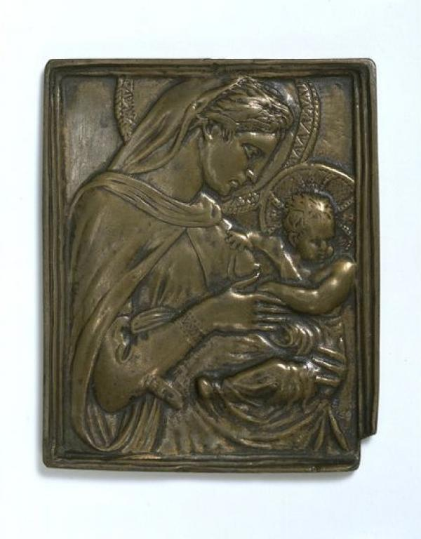 Donatello Virgina nd Child Bronze Relief