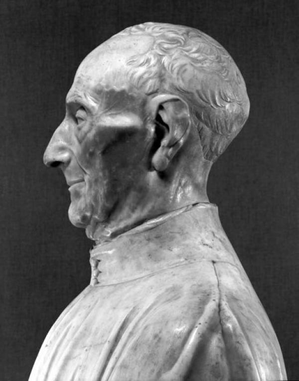 Bust of Giovanni Chellini, 1456, Left Profile