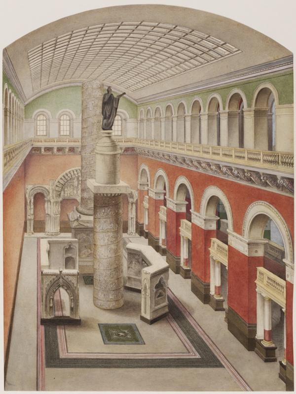 View of the interior of the Western Architectural Court
