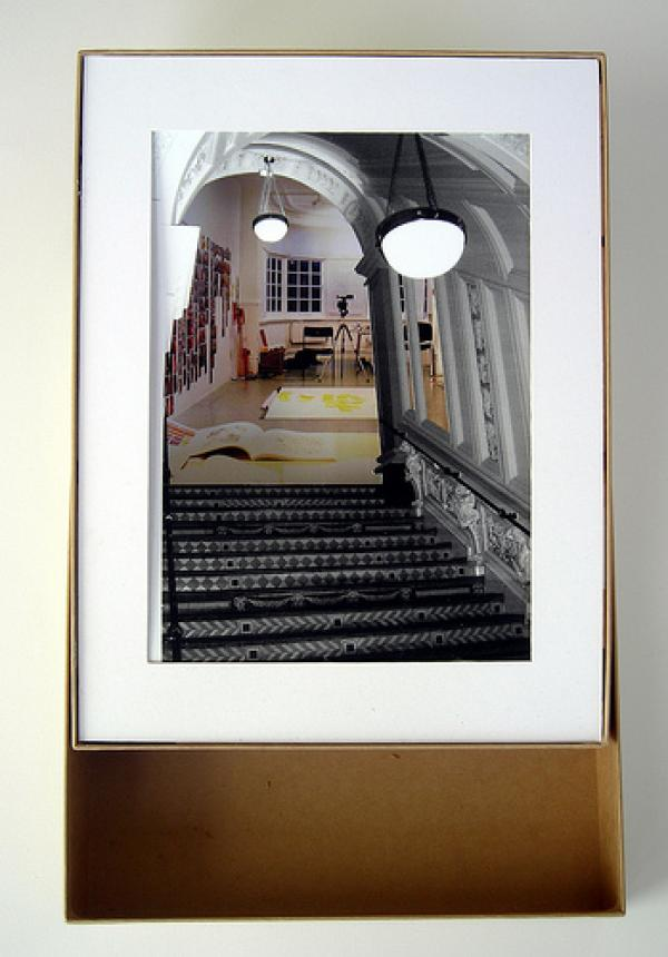 ceramic stairs with studio diorama - Helen Scalway 2009
